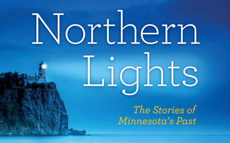 Northern Lights textbook cover featuring the Split Rock lighthouse