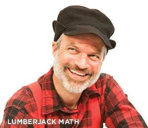 Man in red and black plaid shirt, suspenders, and black cap