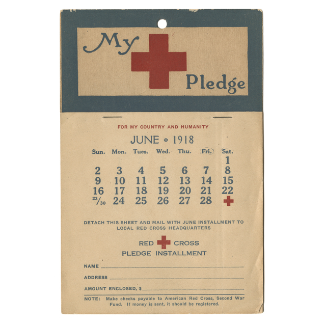 Red Cross payment calendar | History Education MN
